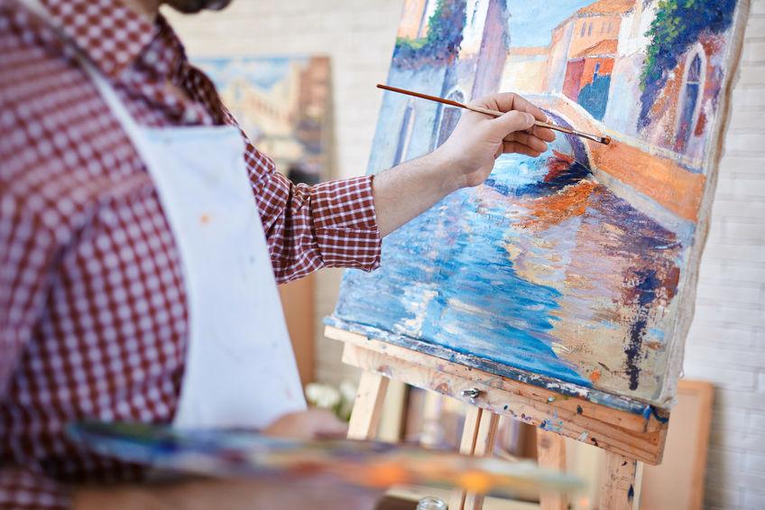 homme peinture sur toile